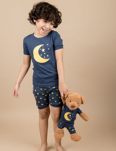 Matching Girl and Doll Short Moon & Stars Pajamas