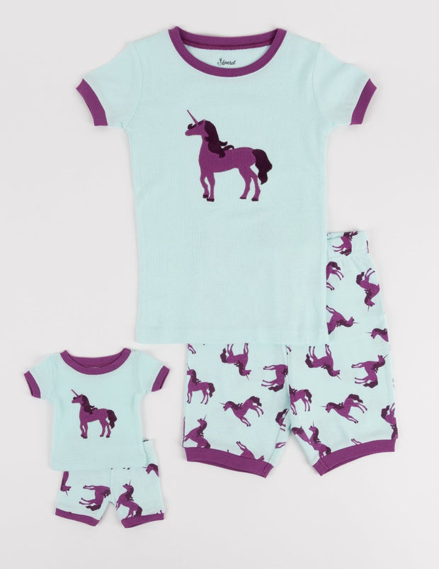 Matching Girl & Doll Short Animal Pajamas