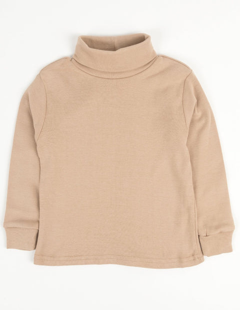 Cotton Neutral Turtleneck Shirts
