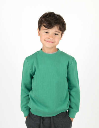 Classic Solid Color Pullover Sweatshirt