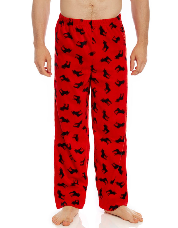 Mens Fleece Moose Pants
