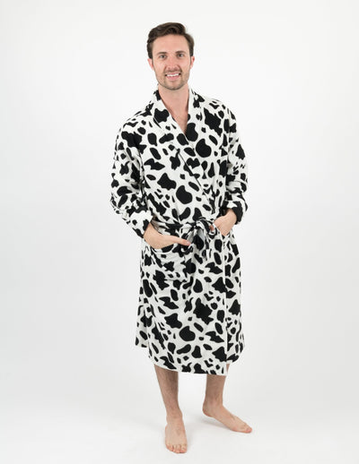 Mens Fleece Cow Robe