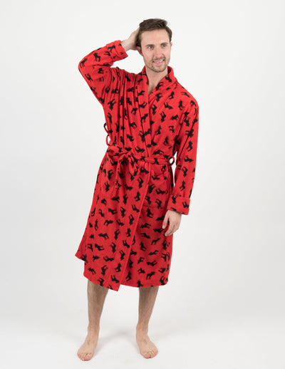 Mens Fleece Moose Robe