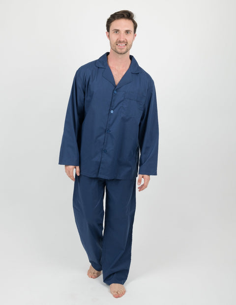 Mens Clearance Classic Button Down Pajamas