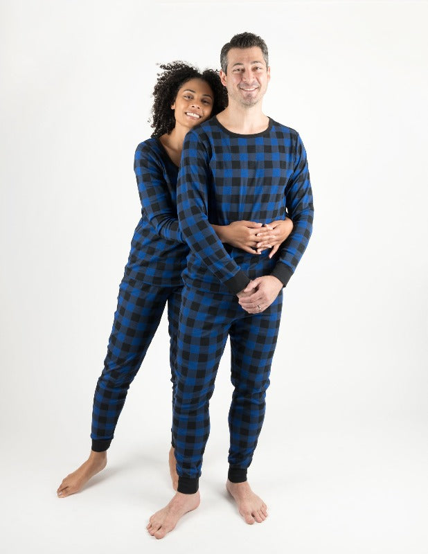 Mens Plaid Cotton Pajamas