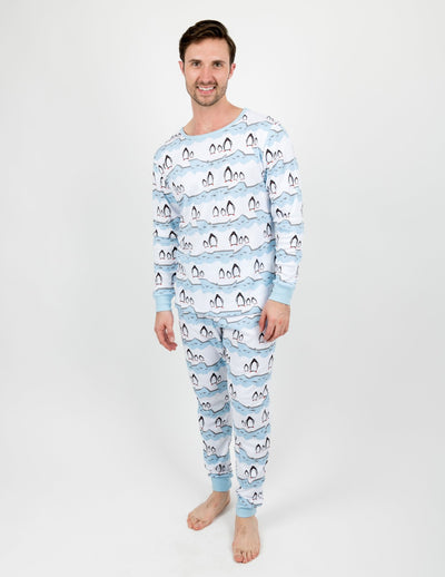 Men's Two Piece Cotton Animal Pajamas