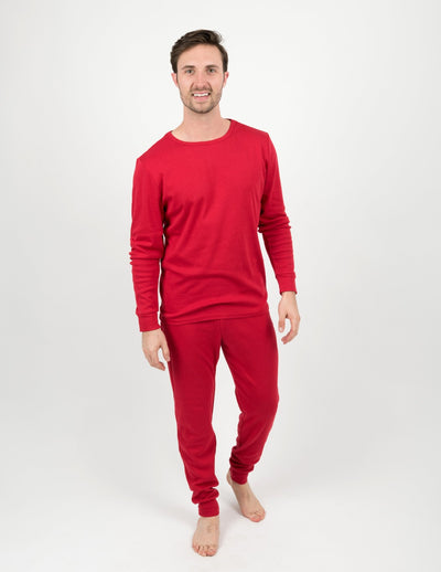 Mens Solid Red Pajamas