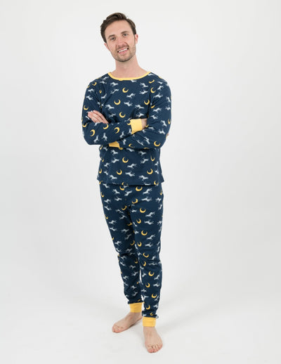 Wild Animals Men's Cotton Pajamas