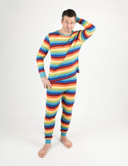 Mens Cotton Stripe Pajamas