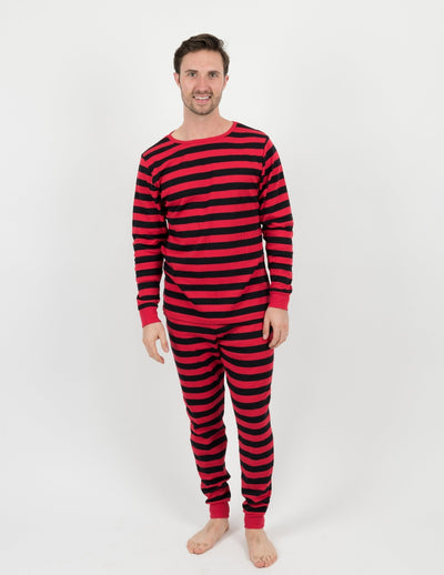 Men's Two Piece Cotton Stripes Pajamas
