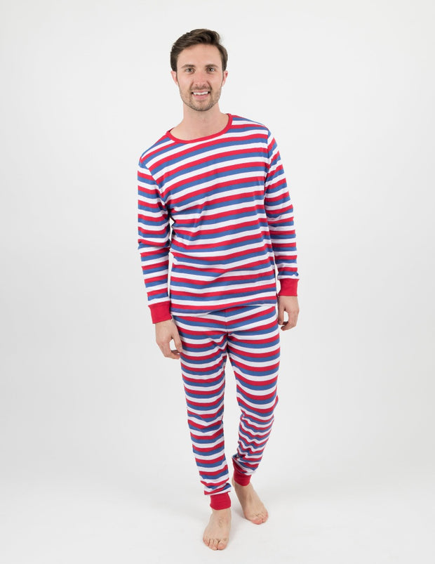 Mens Red Stripes Pajamas