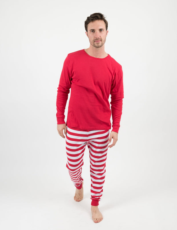 Mens Red & White Stripes Pajamas