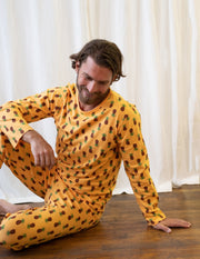 Mens Loose Fit Pineapple Pajamas