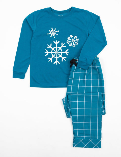 Kids Flannel Print Pajama Sets