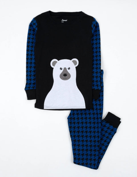 Polar Bear Houndstooth Pajamas