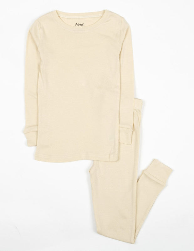 Solid Color Neutral Cotton Pajamas