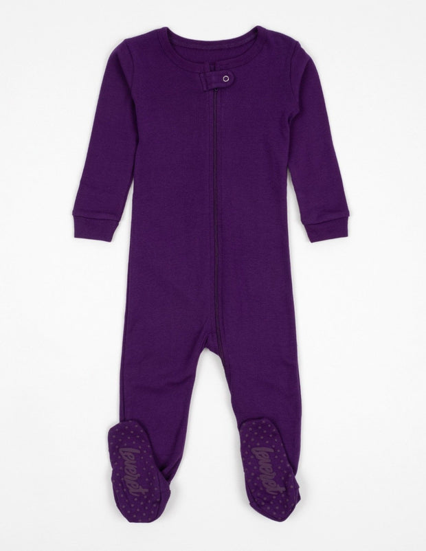 Solid Color Boho Footed Pajamas