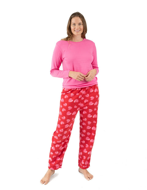 Womens Fleece Hearts Set