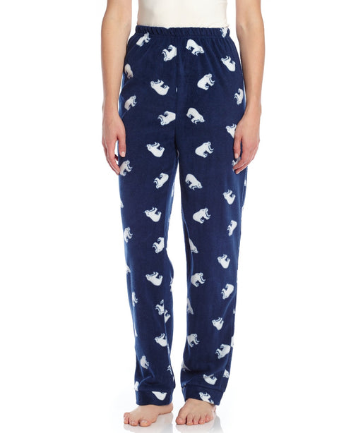 Womens Fleece Polar Bear Pants