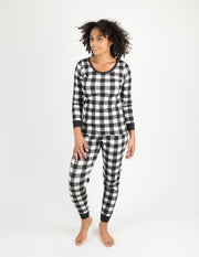 Womens Cotton Plaid Pajamas