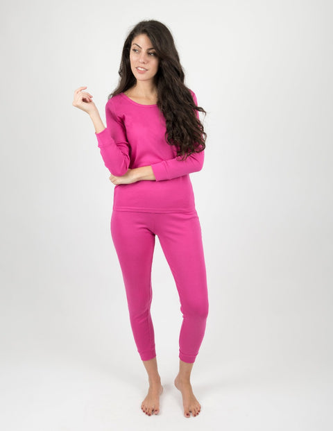 Womens Cotton Solid Color Pajamas
