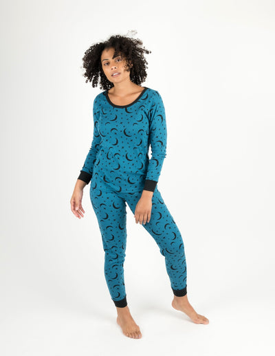 Womens Moon Cotton Pajamas