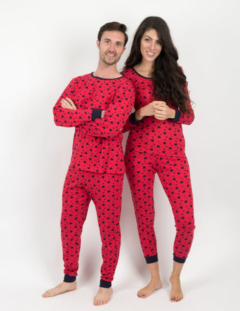 Mens Hearts Pajamas