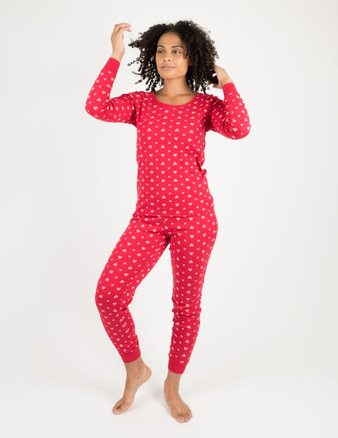 Womens Hearts Cotton Pajamas