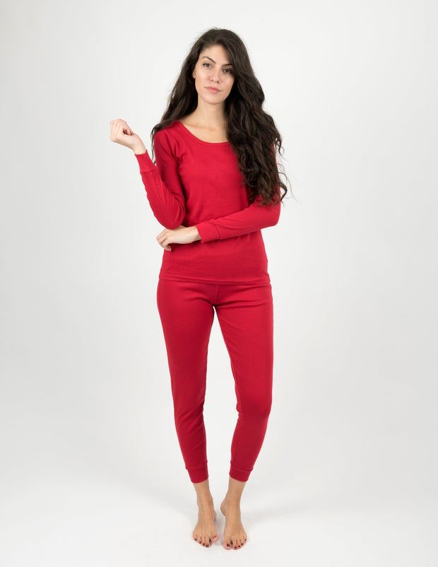 Womens Solid Red Pajamas