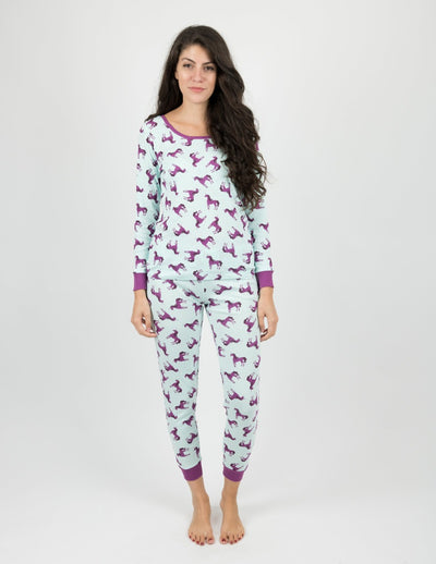 Womens Unicorn Cotton Pajamas