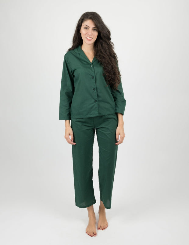 Womens Clearance Classic Button Down Pajamas