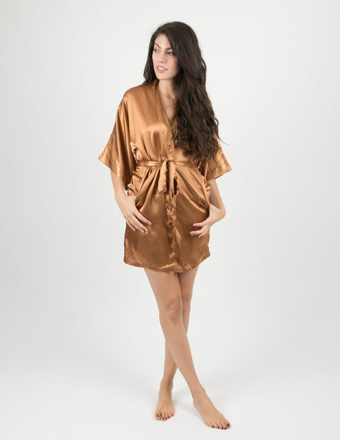 Satin Robe Womens