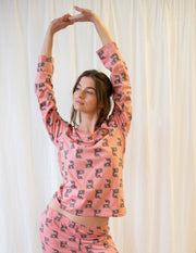 Womans Loose Fit Pink Koala Pajamas