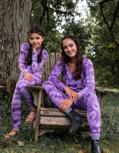 Womens Mix Dye Cotton Pajamas