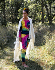 Womens Swirl Tie Dye Cotton Pajamas