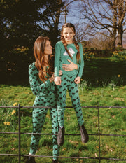 Womens Cotton Bunny Pajamas