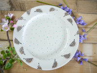 hector hedgehog large dinner plate