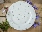 starburst grey large dinner plate