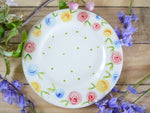 country cottage roses tea plate
