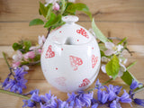 strawberry pink hearts sugar bowl