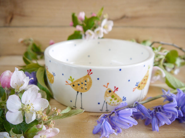 cheryl the cheeky chicken small pet bowl