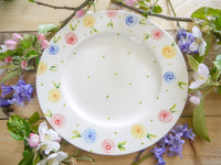 country cottage roses side plate