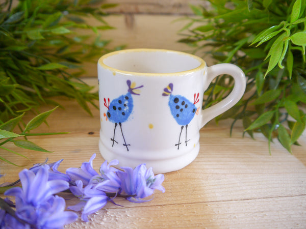 barney blue chicken mini mug