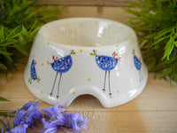 barney blue chicken medium pet bowl