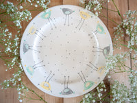 rita retro chicken large dinner plate
