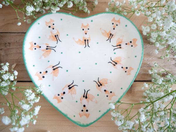 frankie fox small heart plate