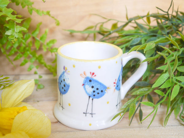 barney blue chicken kids mug