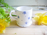 starburst blue kids mug