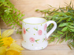 country cottage pink roses kids mug