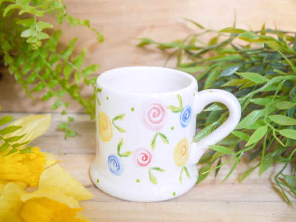 country cottage roses kids mug